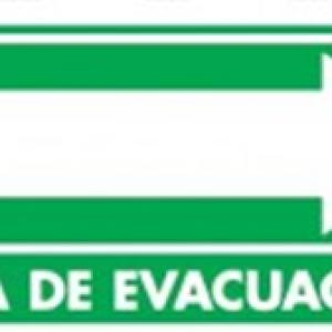 SEÑAL MODELO 025 RUTA DE EVACUACIÓN DERECHA