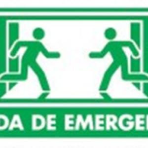 SEÑAL MODELO 026 SALIDA DE EMERGENCIA