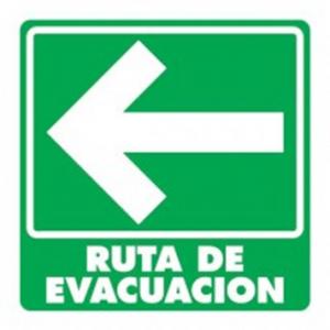 SEÑAL MODELO 002 RUTA DE EVACUACIÓN IZQUIERDA