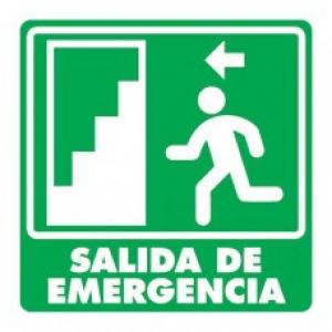 SEÑAL MODELO 004 SALIDA DE EMERGENCIA IZQUIERDA
