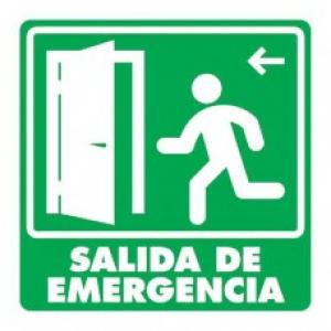 SEÑAL MODELO 006 SALIDA DE EMERGENCIA IZQUIERDA