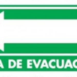 SEÑAL MODELO 024 RUTA DE EVACUACIÓN IZQUIERDA