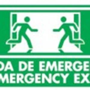 SEÑAL MODELO 027 SALIDA EMERGENCIA ESPAÑOL/INGLES