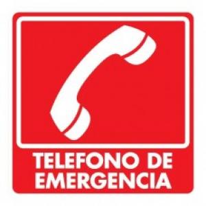 SEÑAL MODELO 044 TELÉFONO DE EMERGENCIA